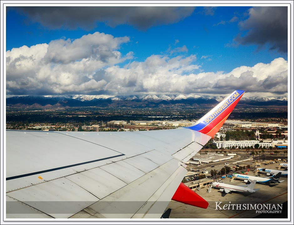 Take off from Ontario airport aboard a Southwest Airlines jet.