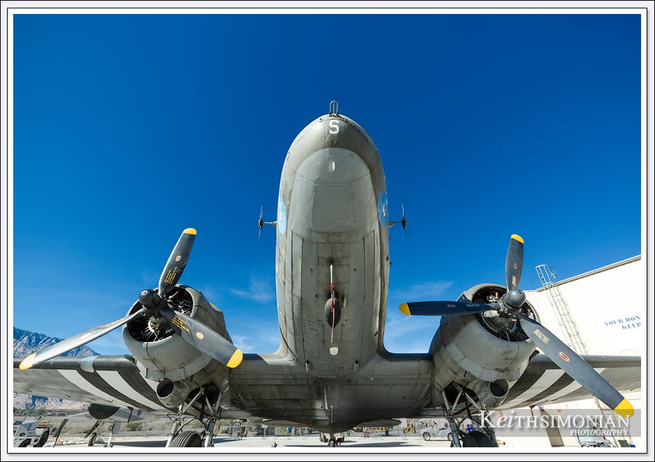 The underbelly of the Douglas C-47/DC-3 Skytrain (Dakota)