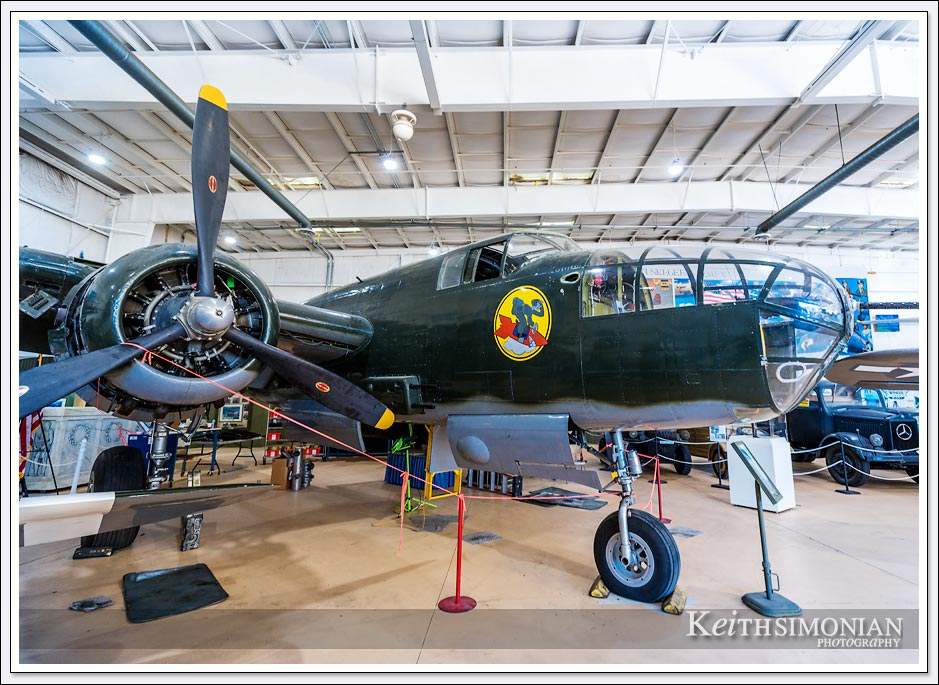 North American B-25 Mitchell Bomber on display at the Palm Springs air museum.