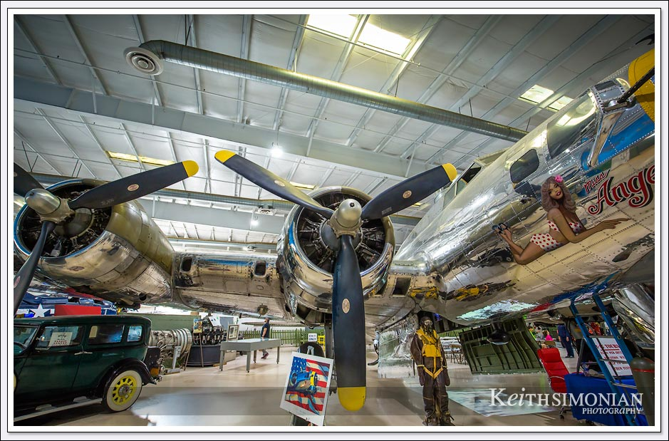 "The Boeing B-17 Flying Fortress ""Miss Angela"" displayed in the Palm Springs Air Museum - Palm Springs, California"
