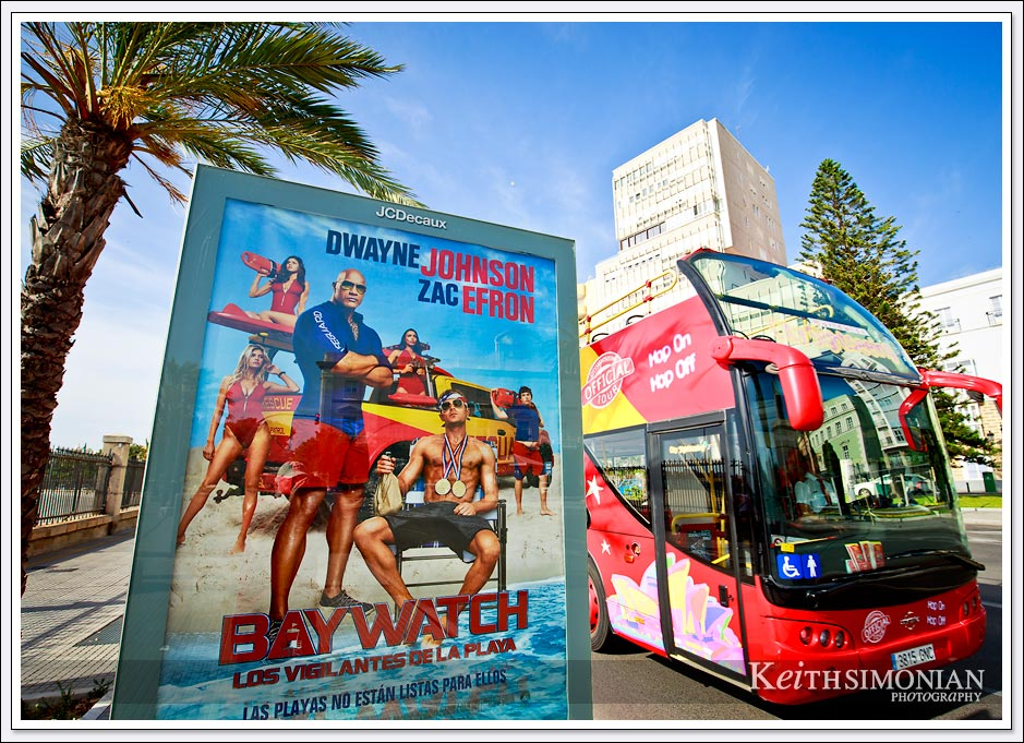 Cadiz Spain - Poster for the Baywatch movie.