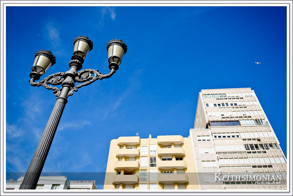 Light pole in Cadiz, Spain.