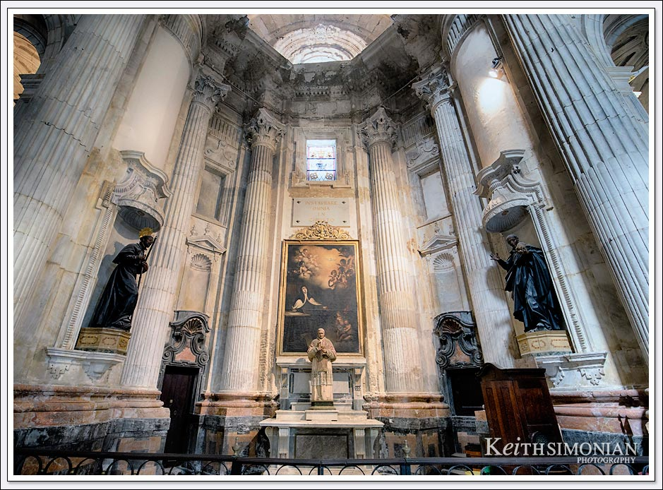 Interior photo of Cadiz Cathedral - Cadiz Spain.