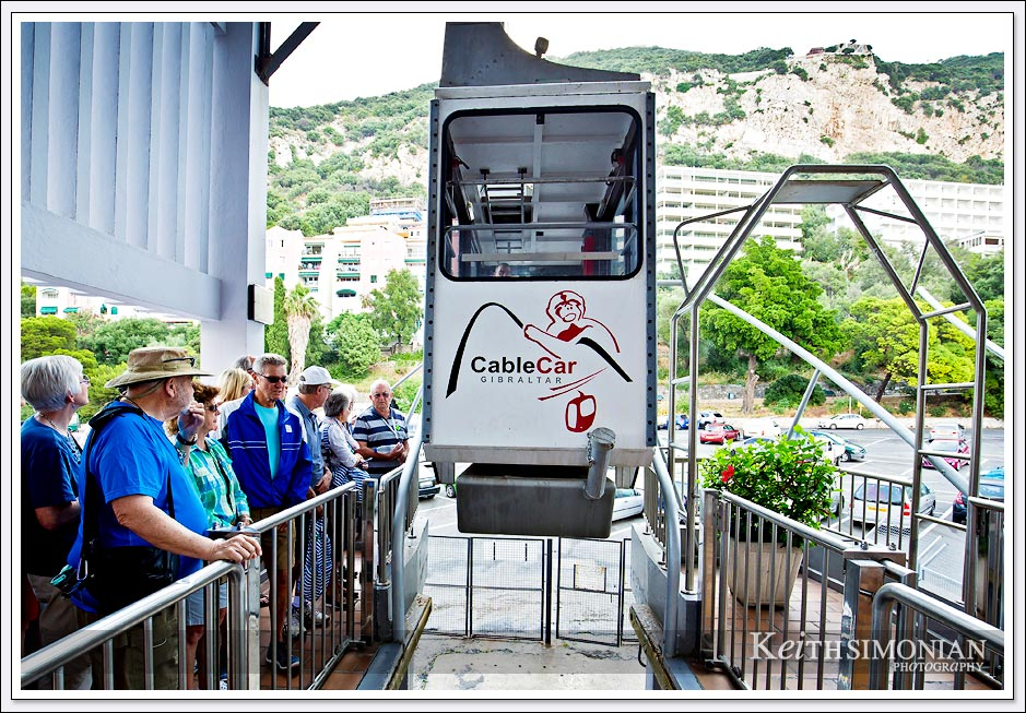 The Gibraltar cable car that takes you to the top of the rock. It was claimed the cable car could hold twenty-eight people, but it was rather crowded with just 24.