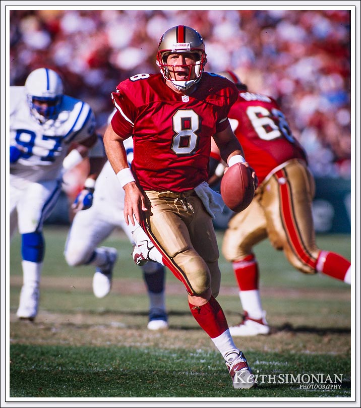#8 Steve Young - member of NFL Hall of Fame - October 18th, 1998 3com park - San Francisco, CA
