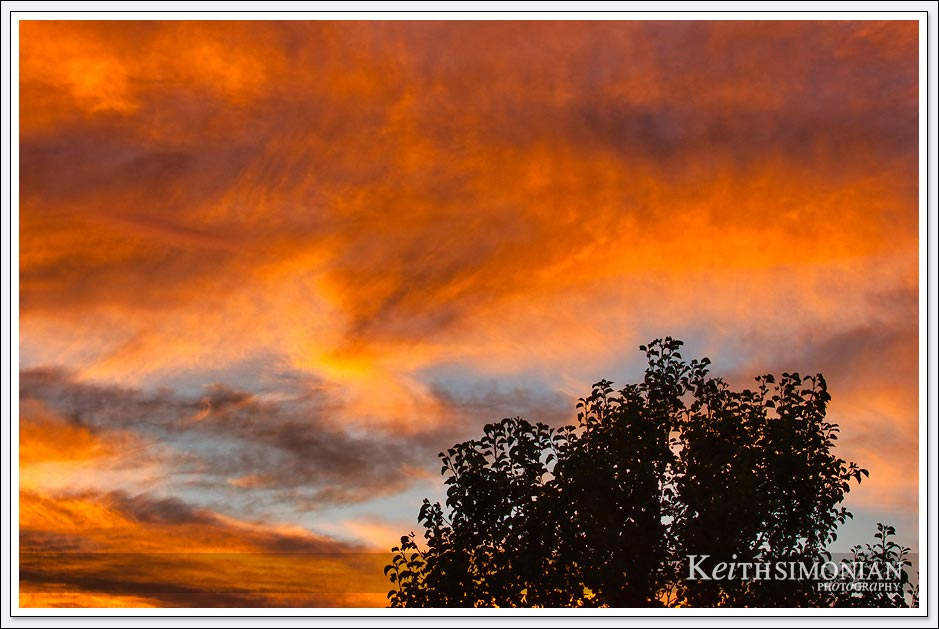 Fire Red East Bay sunset - August 15, 2020 - Brentwood, California