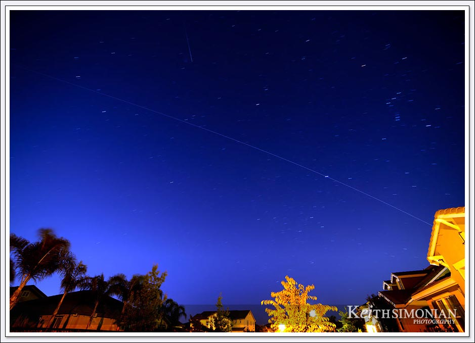 The early bird gets the photo of the International Space Station streaking across the morning sky at 6:20 AM on October 22, 2020.
