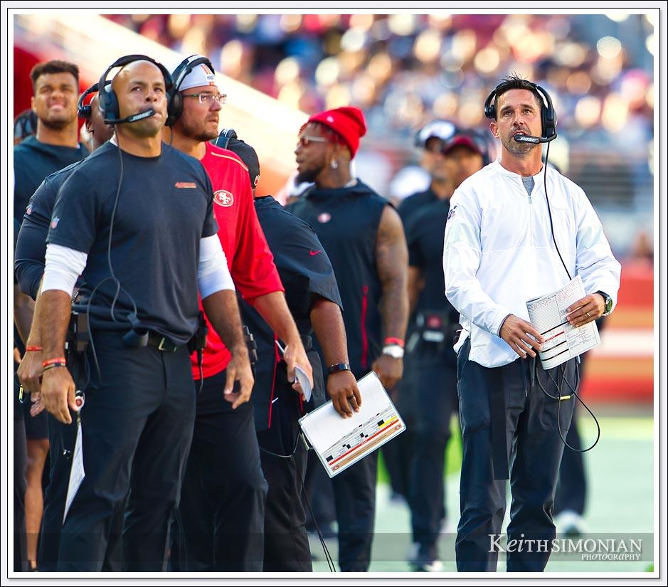Robert Saleh and San Francisco 49er Head Coach Kyle Shanahan