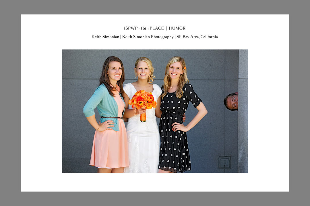 ISPWP - International Society of Professional Wedding Photographers Contest - 16th Place - Humor - Keith Simonian Photography