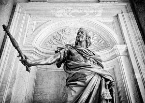 Statue of King Phillip of Spain in Rome Italy