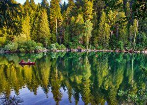 Sunset reflection - Lake Johanson, California
