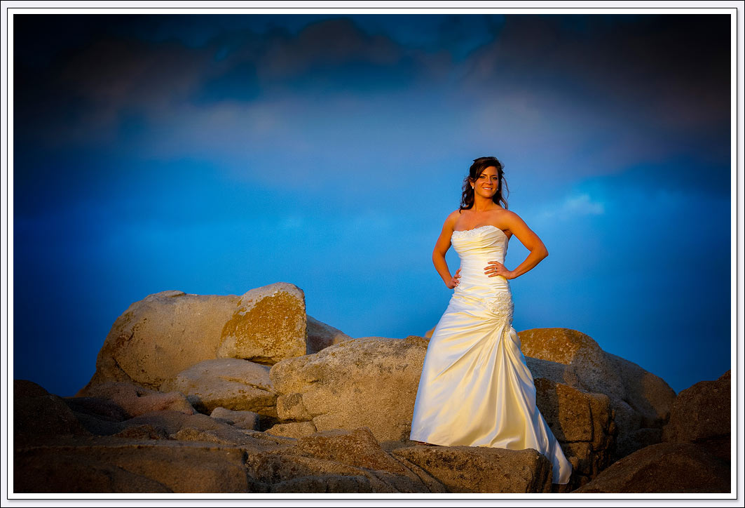 That golden late light at sunset will create amazing images from your bridal portrait at Lovers Point in Pacific Grove.