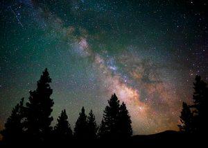 Night view of the Milky Way in Plumas, CA