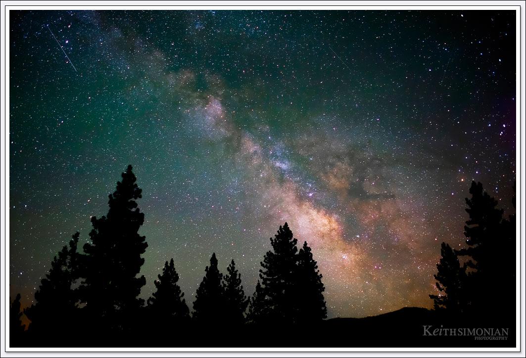 Night sky over Plumas California