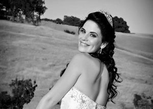 Black and White conversion of Bridal portrait and Oakhurst County Club - Clayton, California