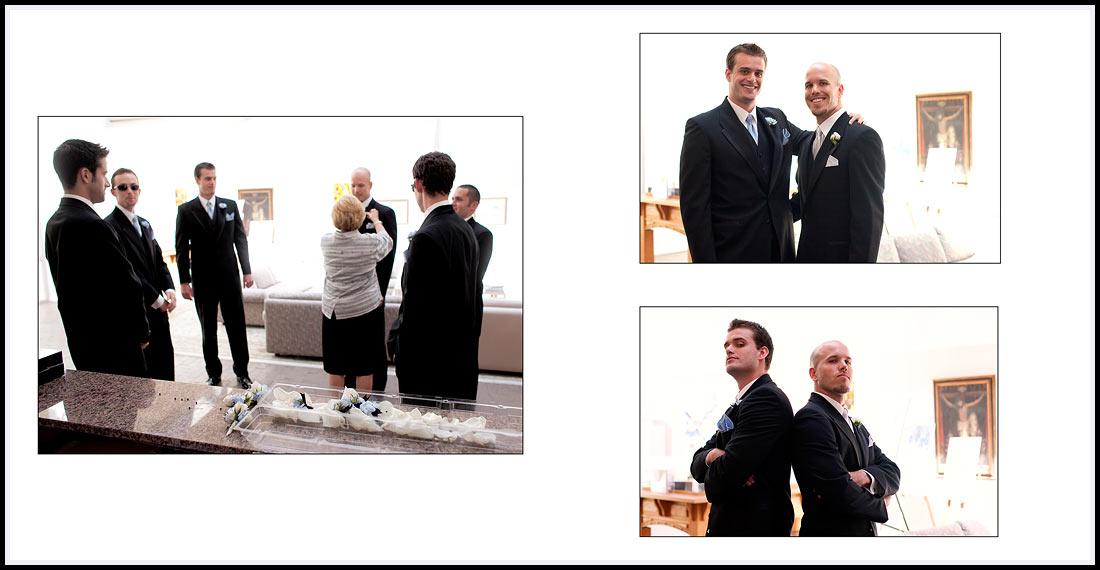 Groom with Best Man Getting Ready - Newport Beach Wedding