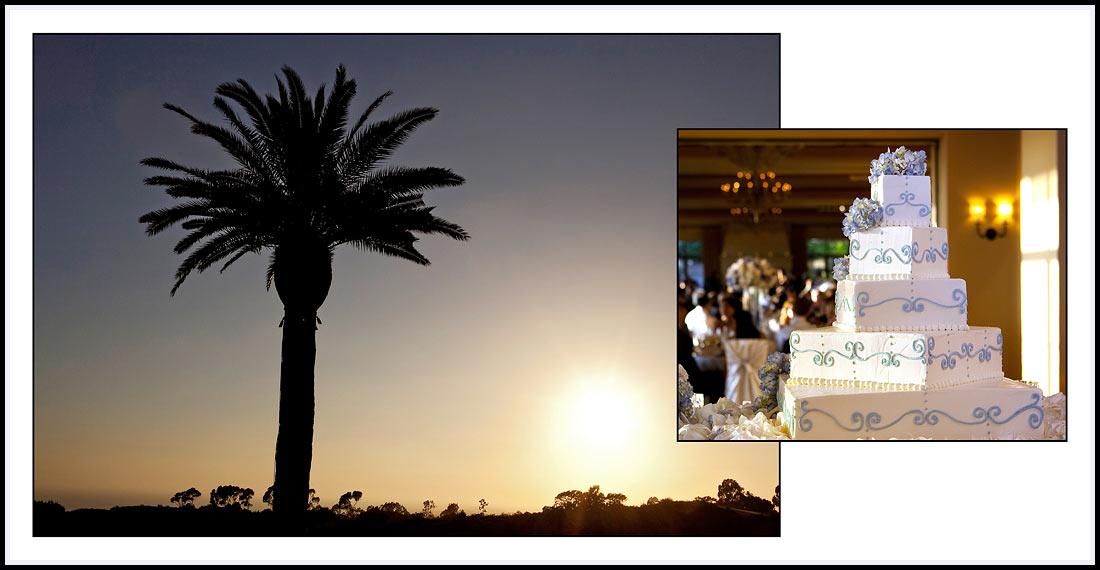 Sunset on the Pelican Hill Resort - Wedding Reception