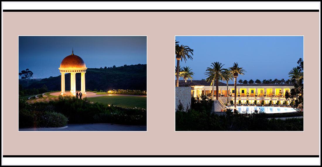 Nigh lights surround the Coliseum pool - The Resort At Pelican Hill 22701 S Pelican Hill Rd Newport Coast, CA 92657