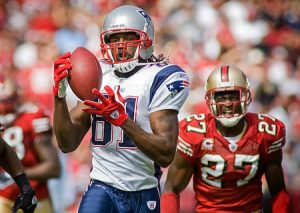 Randy Moss touchdown catch for the New England Patriots.