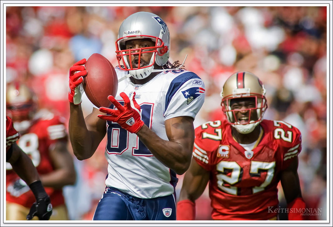 New England Patriot Randy Moss 66 yard touchdown reception against San Francisco 49ers at Candlestick Park - October 2008.
