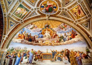 Paintings in the Raphael Rooms in Vatican