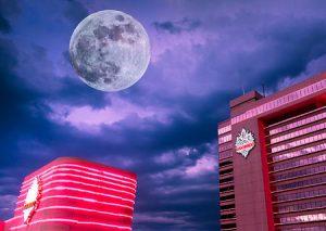 Full moon over Reno Nevada