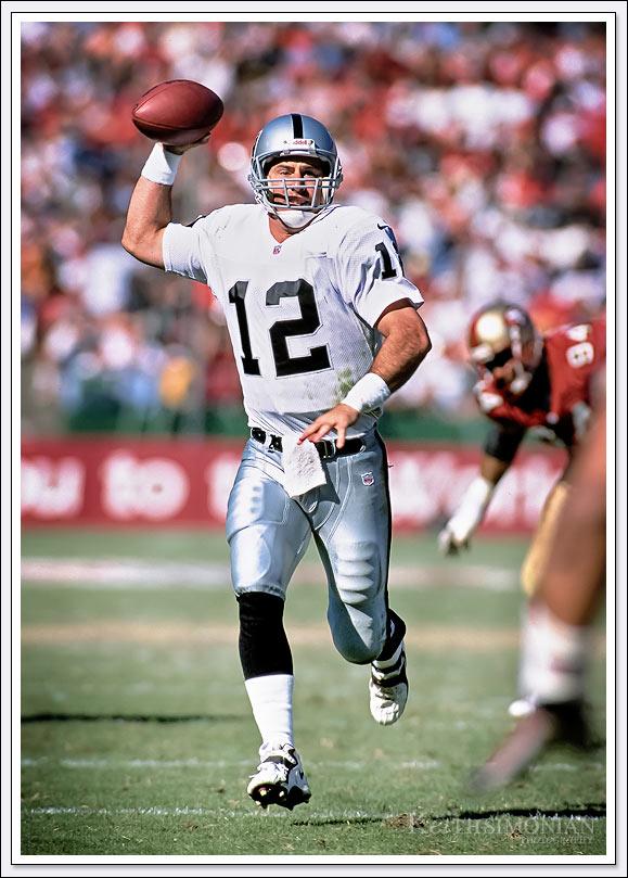 Rich Gannon Oakland Raiders vs 49ers - October 8, 2000 - Candlestick Park