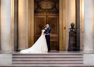 Bride and Groom - San Francisco City Hall