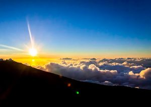 Above the clouds in Maui