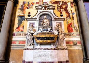 Galileo Galilei final resting spot inside Catholic Church in Florence, Italy