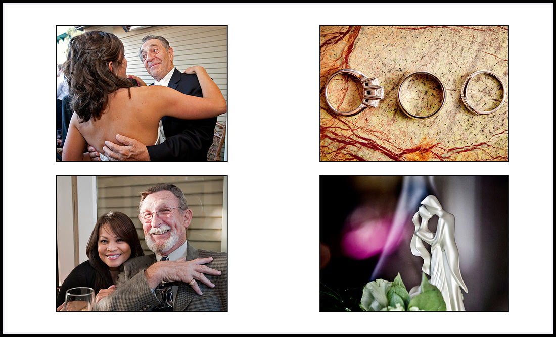 Wedding ring details - Bride greeting guests - Gatherings, Pacific Grove, CA