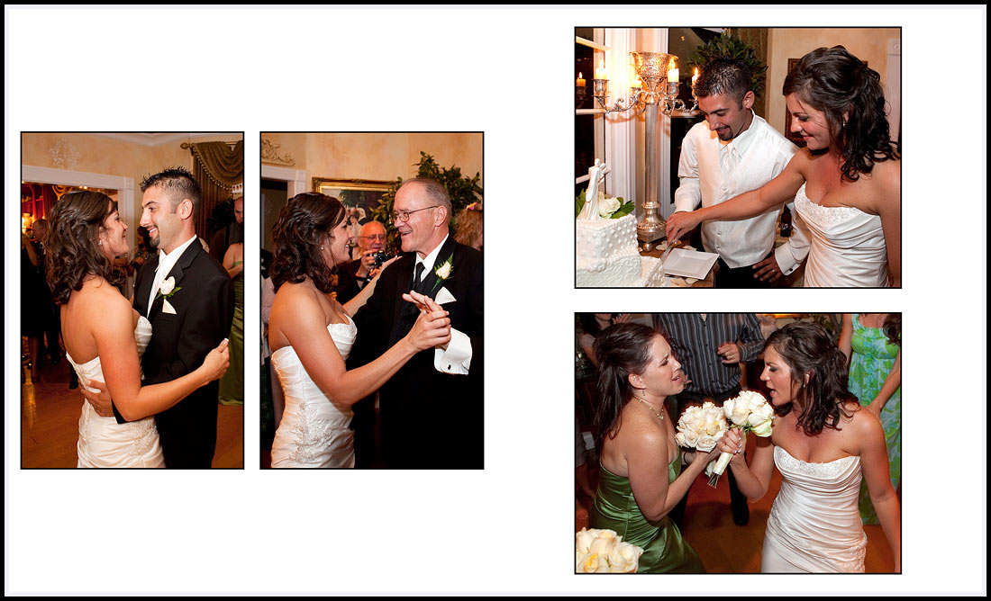 Cake cutting and Father Daughter Dance at Gatherings, Pacific Grove, California