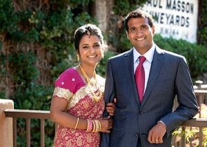 South Asian wedding at the Mountain Winery in Saratoga, CA