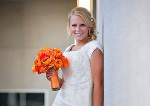 Full length bridal portrait - Oakland LDS