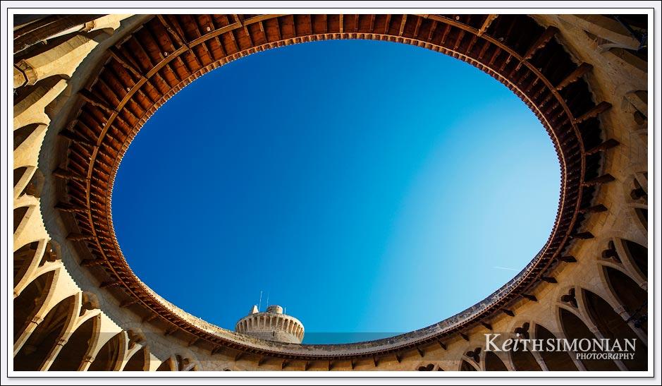 Circular opening of Bellver Castle - Palma Spain