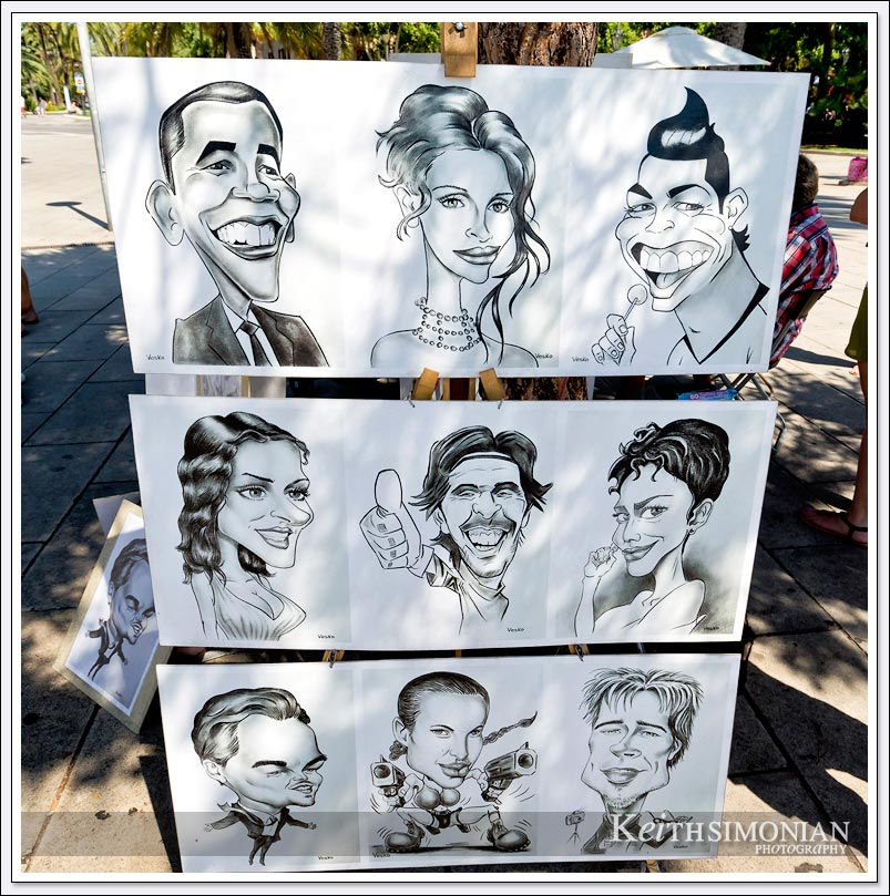 Artist caricatures - Palma de Mallorca, Spain