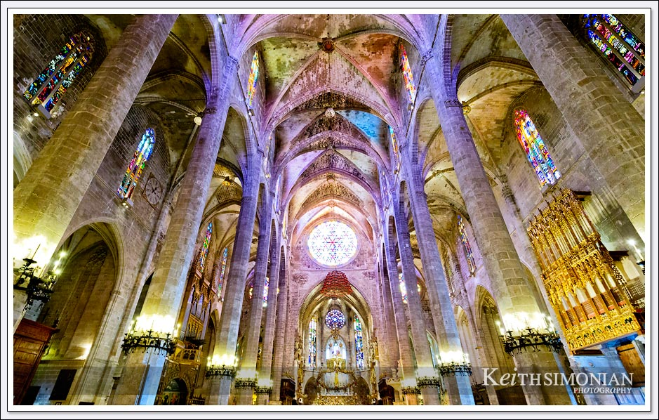 Palma Cathedral interior - Palma de Mallorca, Spain