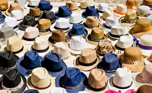 During the summer heat of Palma de Mallorca a hat is certainly a good idea.