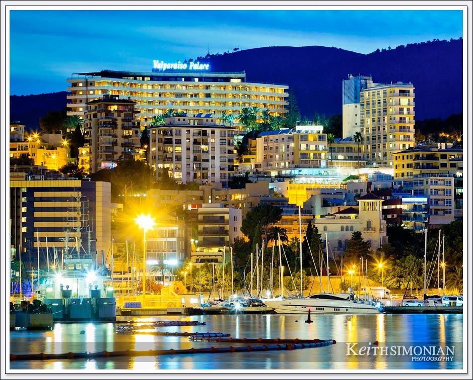 GPRO Valparaiso Palace & Spa sits above the harbor of Palma de Mallorca Spain.