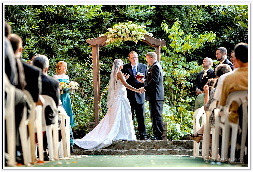 Wonderful greenery will surround your outdoor wedding ceremony at Wildwood Acres in Lafayette, CA