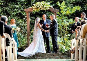 Wedding Ceremony at Wildwood Acres in Lafayette, California