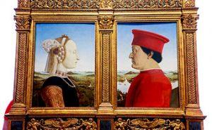 The Duke and Duchess of Urbino Federico da Montefeltro and Battista Sforza -Florence Italy - Uffizi Gallery